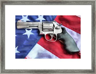 All American Firepower Framed Print