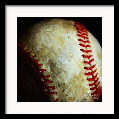 Red Sox Digital Art Framed Prints
