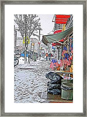 All American Snow Framed Print