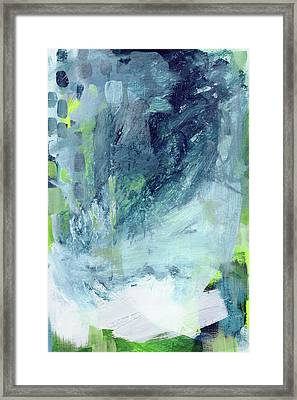 All Around You- Abstract Art By Linda Woods Framed Print by Linda Woods