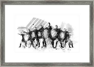 All Blacks Haka Framed Print