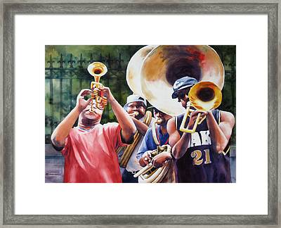 All Brass Framed Print by Sue Zimmermann