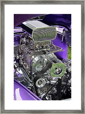 All Chromed Engine With Blower Framed Print by Bob Slitzan