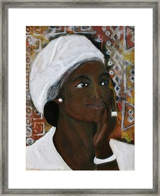 All Dressed In White Framed Print by Neena Alapatt