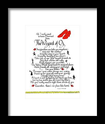 Yellow Brick Road Framed Prints