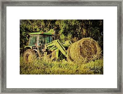 All In A Deere's Work Framed Print by Janice Rae Pariza