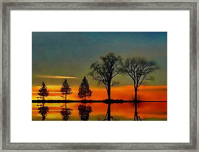 All In A Row  Framed Print