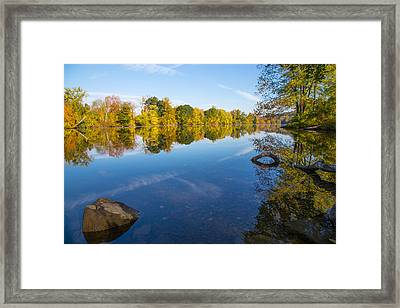 All Is Quiet On The River Framed Print by Karol Livote