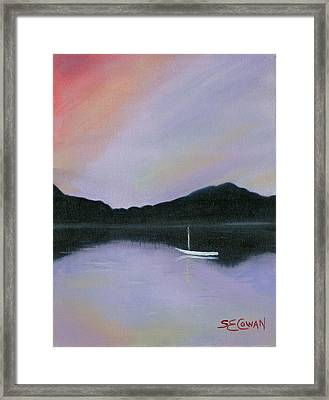 All Is Still Framed Print by SueEllen Cowan