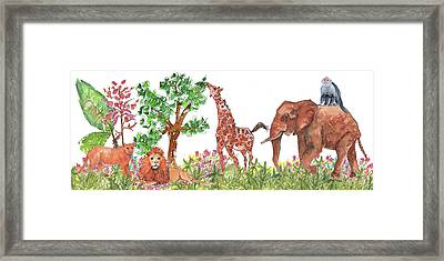 All Is Well In The Jungle Framed Print by Kathleen McElwaine