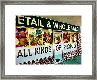 All Kinds Of Produce Framed Print
