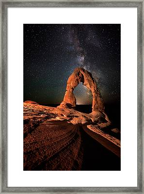 All Lines Lead To Delicate Arch Framed Print by Mike Berenson