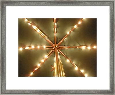 All Lit Up Framed Print by Siobhan Yost