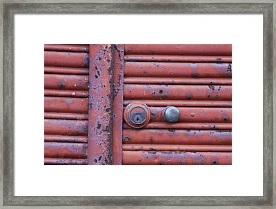 Framed Print featuring the photograph All Locked Up by Stephen Mitchell