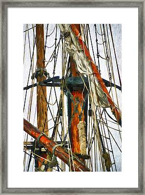 All Masts Framed Print