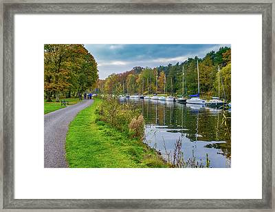 All Moored Up Framed Print