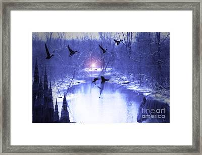 All My Dreams In Blue  Framed Print by Cathy  Beharriell