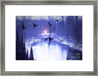 All My Dreams In Blue  Framed Print