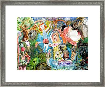 All My Light Sisters Look Like Me And They Are Framed Print by Barb Greene mann