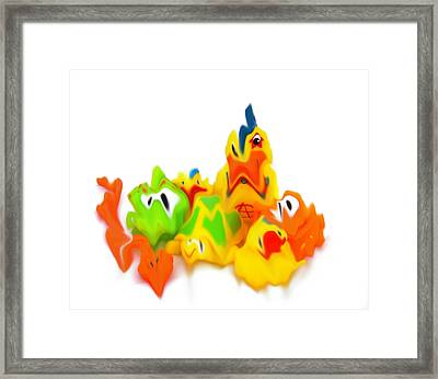 All Of A Blur Framed Print by Christopher Rowlands