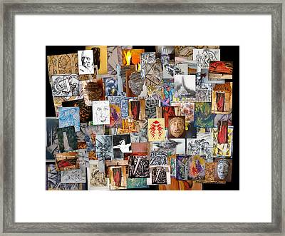 All Of It Collage Framed Print