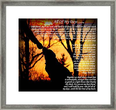 All Of My Days Version Three Framed Print
