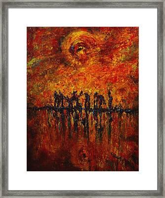 All Of Them Framed Print by David Grudniski