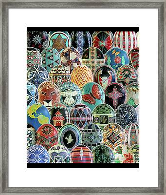 All Ostrich Eggs Collage Framed Print