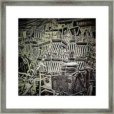 Framed Print featuring the photograph All Piled Up by Lewis Mann
