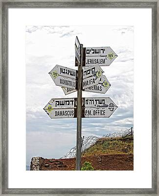 All Roads Lead Somewhere Framed Print