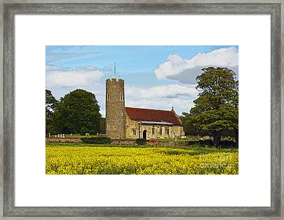 All Saints Frostenden. Framed Print by Stan Pritchard