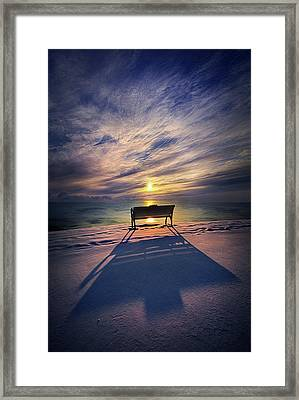 Framed Print featuring the photograph All Shadows Chase Swift by Phil Koch