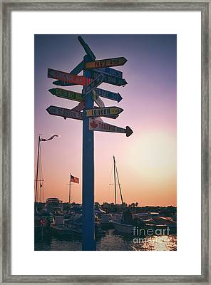All Signs Point To Sunset Framed Print by Mark David Zahn Photography