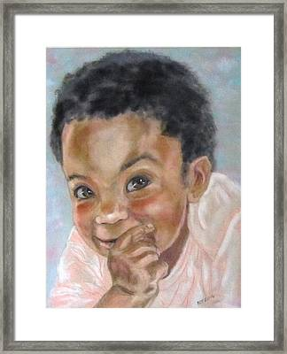 All Smiles Framed Print