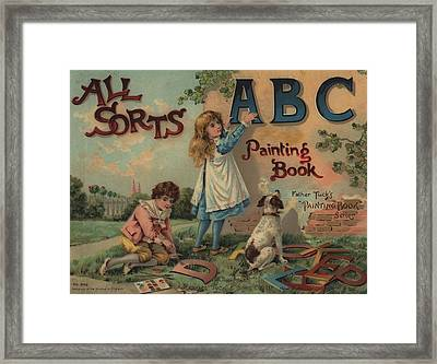 All Sorts Abc Painting Book Framed Print by Reynold Jay