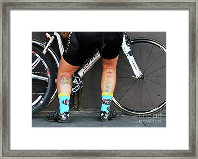 Framed Print featuring the photograph All Star Cyclist by Joe Jake Pratt