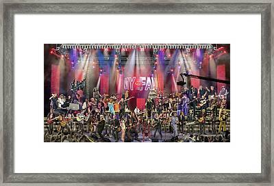 All Star Jam Framed Print by Don Olea