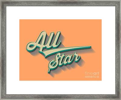 All Star Tee Framed Print