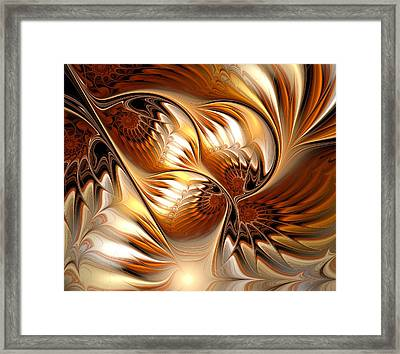 All That Gold Framed Print