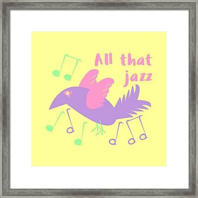 All That Jazz Framed Print by Geckojoy Gecko Books