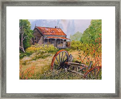 All That  Remains Framed Print by Val Stokes