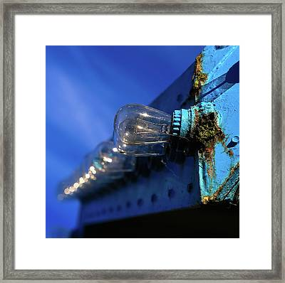 Framed Print featuring the photograph All The Blue by Lora Lee Chapman