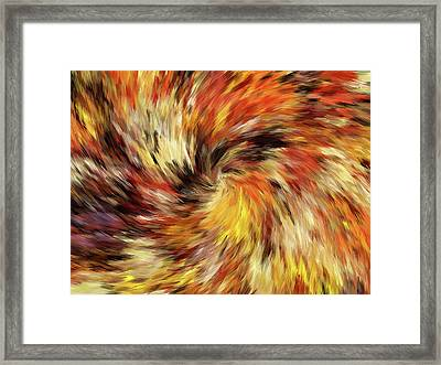 All The Colors Of An Autumn Day Abstract Framed Print by Georgiana Romanovna