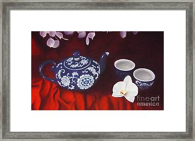 All The Tea In China Framed Print by Colleen Brown