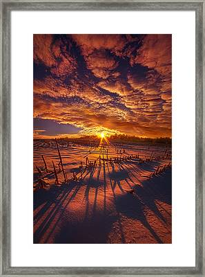 All The Things That I'd Like To Say Framed Print