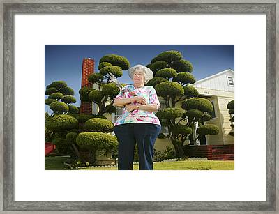 All The Trimming Framed Print