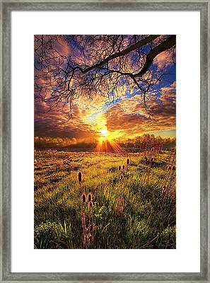 All The World Was Right Framed Print by Phil Koch