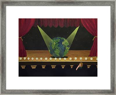 All The World's On Stage Framed Print
