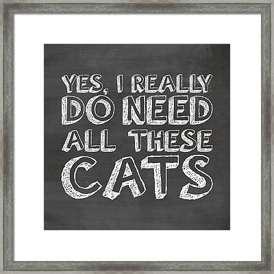 All These Cats Framed Print by Nancy Ingersoll
