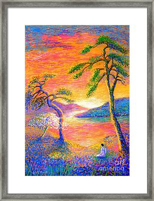 Buddha Meditation, All Things Bright And Beautiful Framed Print